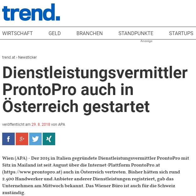 ProntoPro Österreich